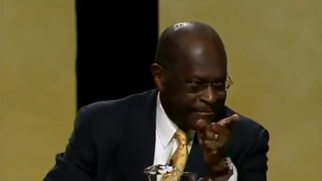 Herman Cain Thanksgiving Family Forum Republican primary 2011 we can do this recounts cancer