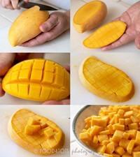 Cara memotong buah mangga