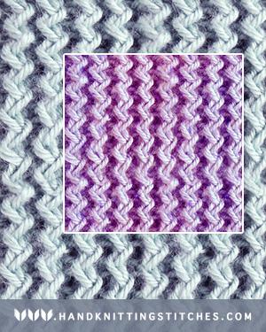 Hand Knitting Stitches - Zig Zag Rib Twist Pattern #knitting #knit