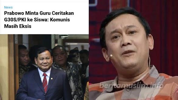 Sindir Prabowo, Denny : Saya Kira Cara Berfikir Bapak Sudah Maju, Ternyata Masih Bahas PKI