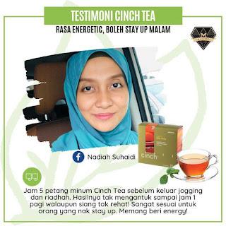 Testimoni Cinch® Tea Mix shaklee stay up malam