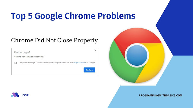 Chrome Did Not Close Properly