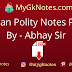 Indian Polity Notes PDF By - Abhay Sir