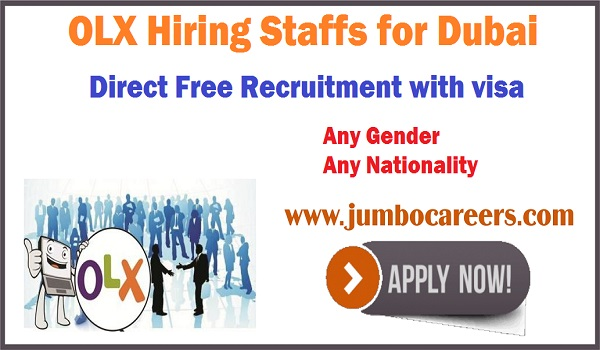 OLX Hiring Staffs for Dubai | Direct Free Recruitment with Visa