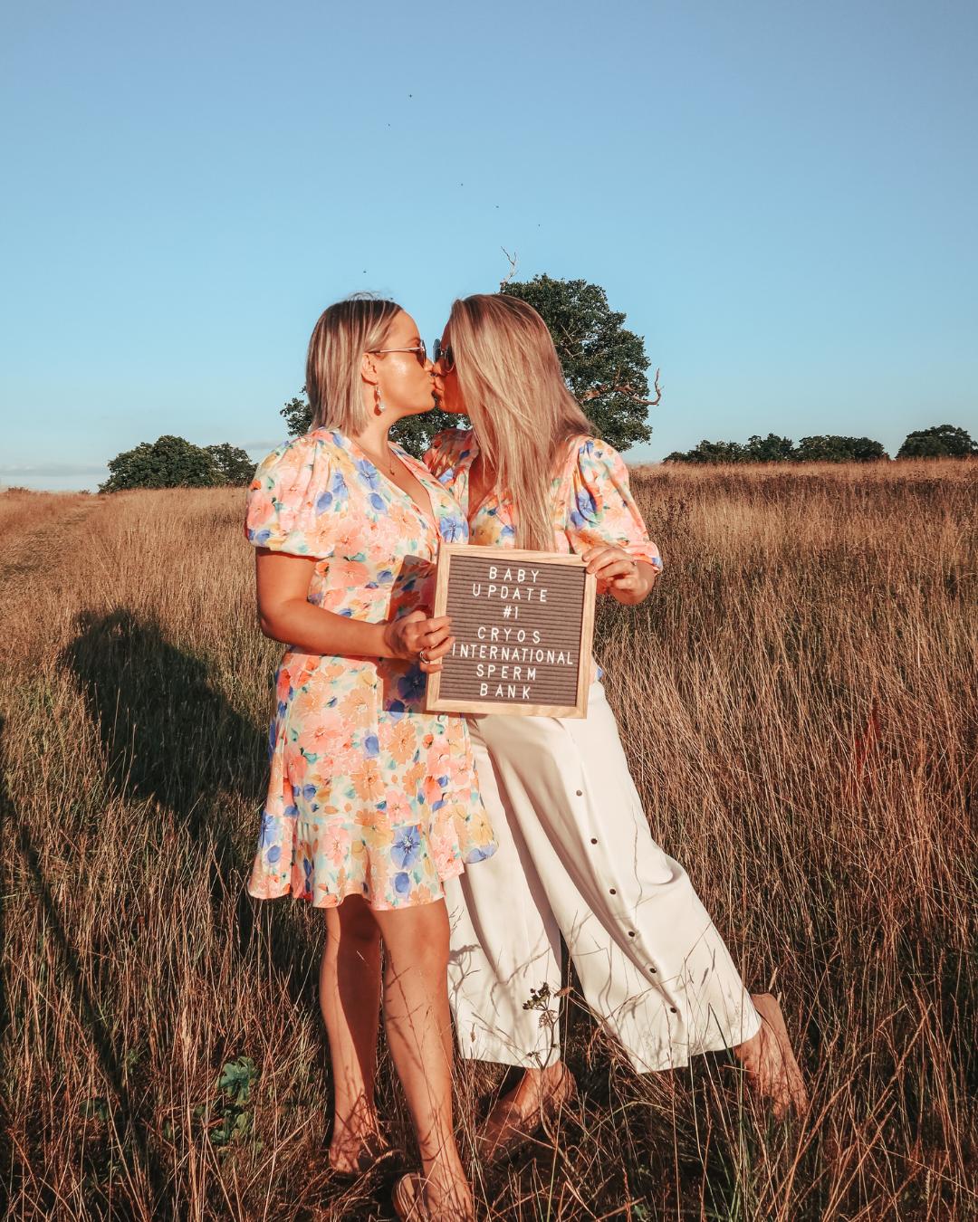 lesbian couple announces chosen sperm bank, cryos international