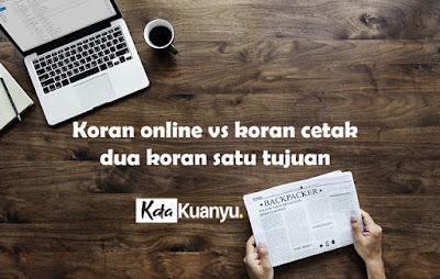 koran online vs koran cetak