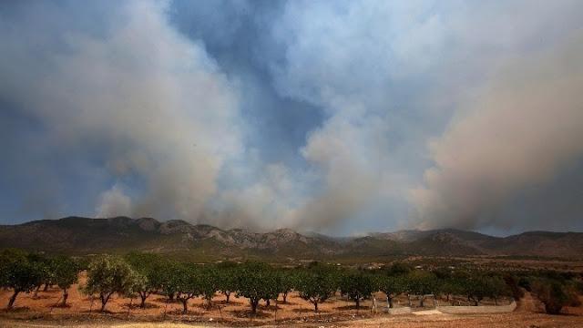 Οριοθετήθηκε η πυρκαγιά στη Μεγαλόπολη