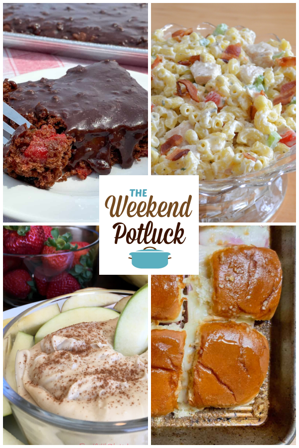 A virtual recipe swap with Chocolate Cherry Bars, Chicken Bacon Ranch Macaroni Salad, 3 Ingredient Fruit Dip, Funeral Sandwiches and dozens more!