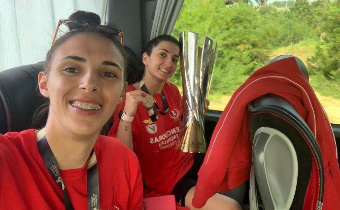 Benfica vencedor da Taça da Liga 2020/21 em Futsal Feminino
