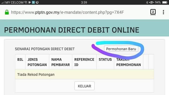 Story Of My Life Cara Semak Nombor Akaun Pinjaman Ptptn