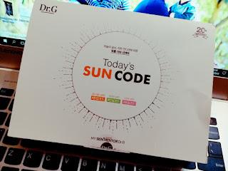 韓國夏日清爽防曬: Dr.G Sun Code防曬乳