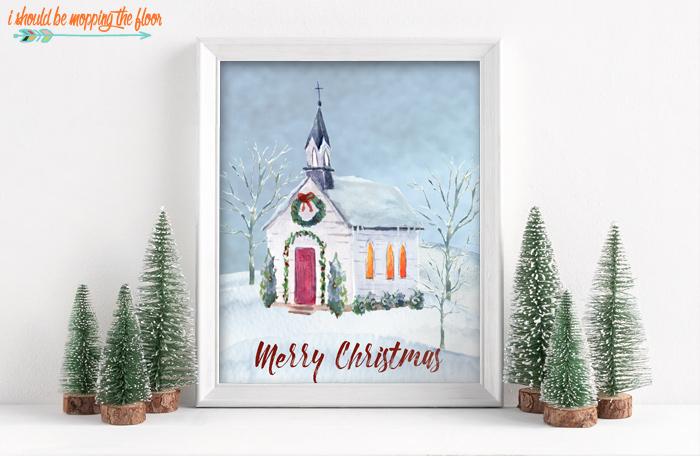 Winter Church Print