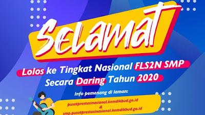 Inilah Peringkat 10 Besar Provinsi dan Peserta FLS2N SMP Tingkat Nasional Tahun 2020