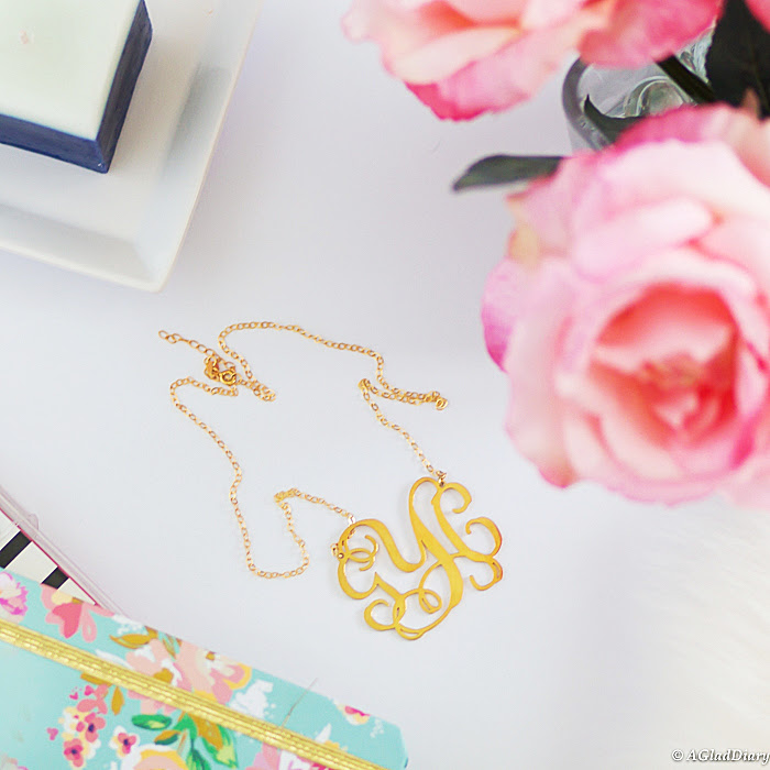 Monogram Gold Necklace: My ETSY Experience