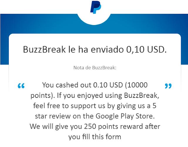 Resultado de imagen para buzzbreak pago 2019