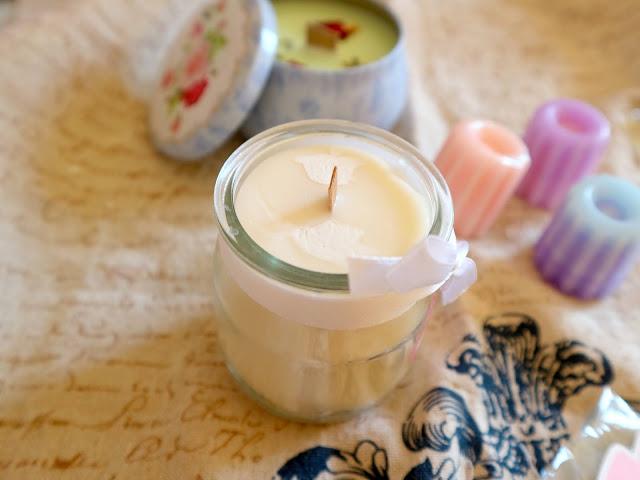 Une bougie à la fleur de sakura ? Une belle idée de fairy candle !