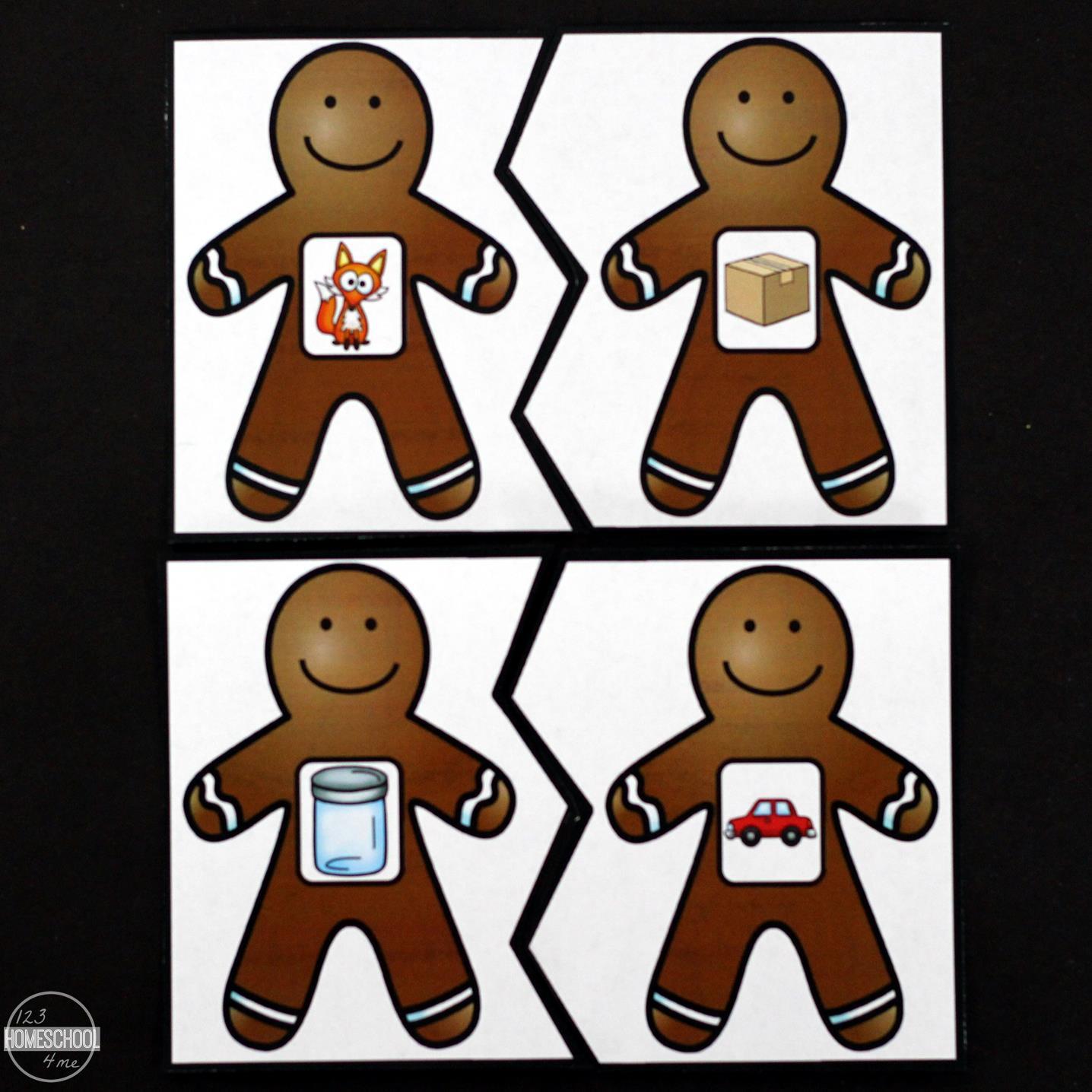 Printable Worksheet Christmas Rhyming For Kindergarten