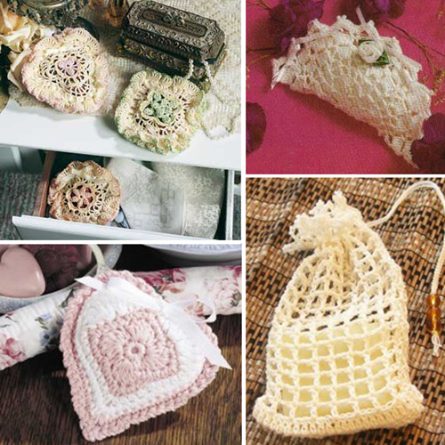 More Pretty Sachets to Crochet – Free Patterns
