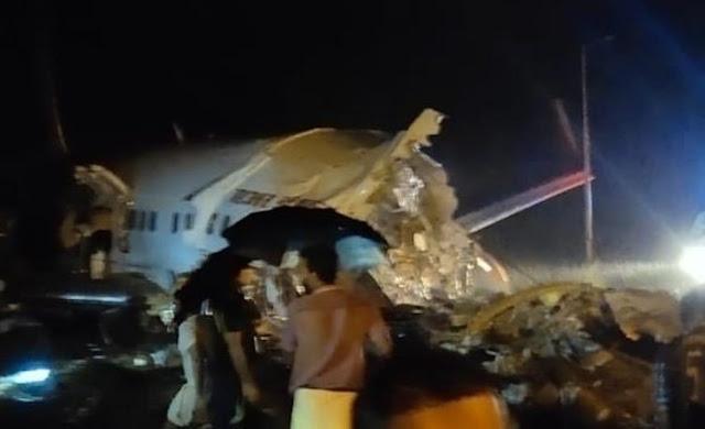 Air India flight from Dubai skids off runway at India's Kozhikode airport in Kerala - Saudi-Expatriates.com
