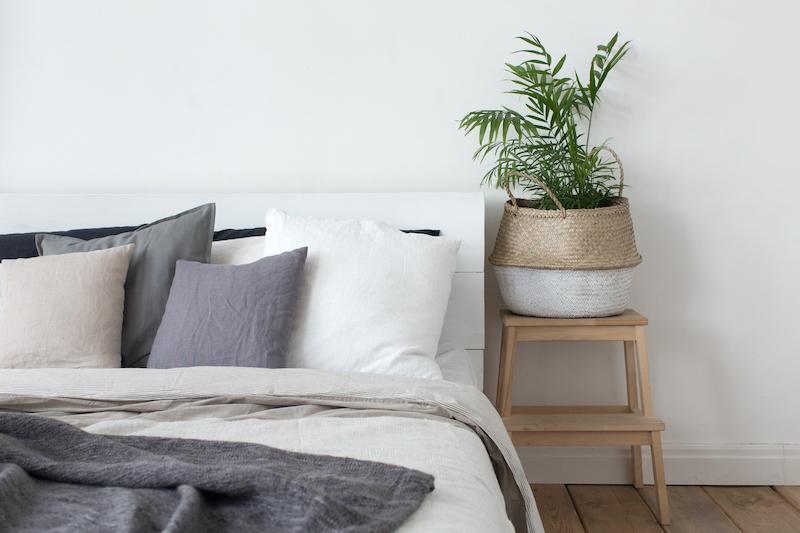 Tendencias decoración interiores, dormitorio de estilo nórdico.