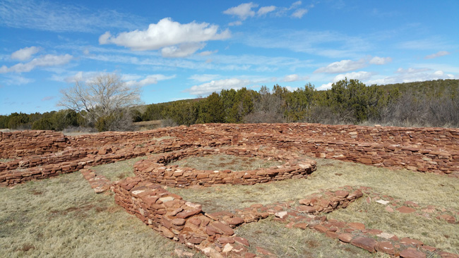 Ruins of Quarai Salinas Pueblo Mission in Mountainair New Mexico