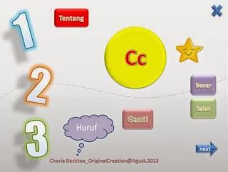 media pembelajaran interaktif powerpoint belajar membaca alfabet