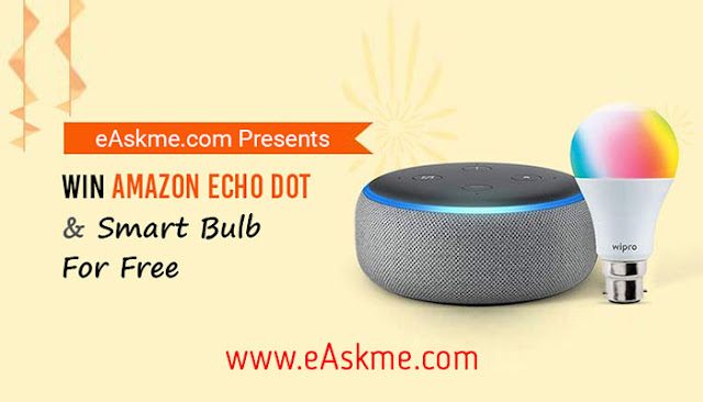 eAskme Giveaway ~ Win Amazon Echo Dot & Smart Bulb for FREE: eAskme
