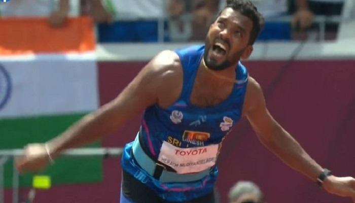 பாராலிம்பிக் போட்டிகளில் உலக சாதனையுடன் தங்கம் வென்றார் இலங்கை வீரர் !!