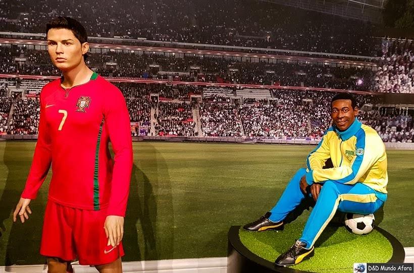 Cristiano Ronaldo e Pelé - Madame Tussauds: Como visitar o museu de cera de Londres