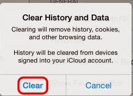 how to clear cache in safari iphone