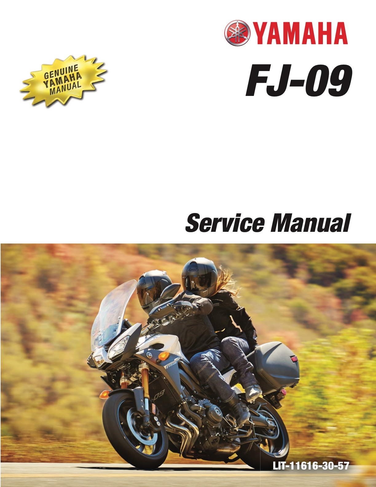 YAMAHA FJ-09 2017 Tracer 900 | MT-09 Tracer Supersport Touring Service  Manual
