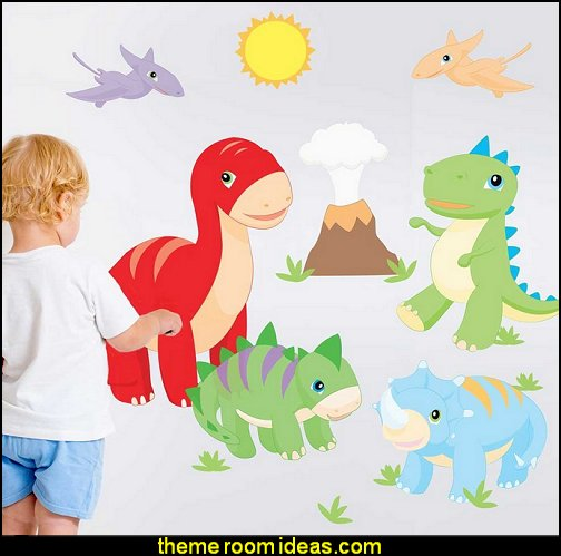 Dino Wall Decal Set - Dinosaur Decals