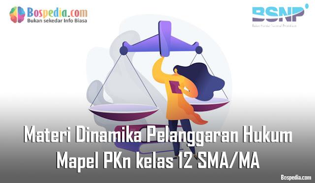 Materi Dinamika Pelanggaran Hukum Mapel PKn kelas 12 SMA/MA