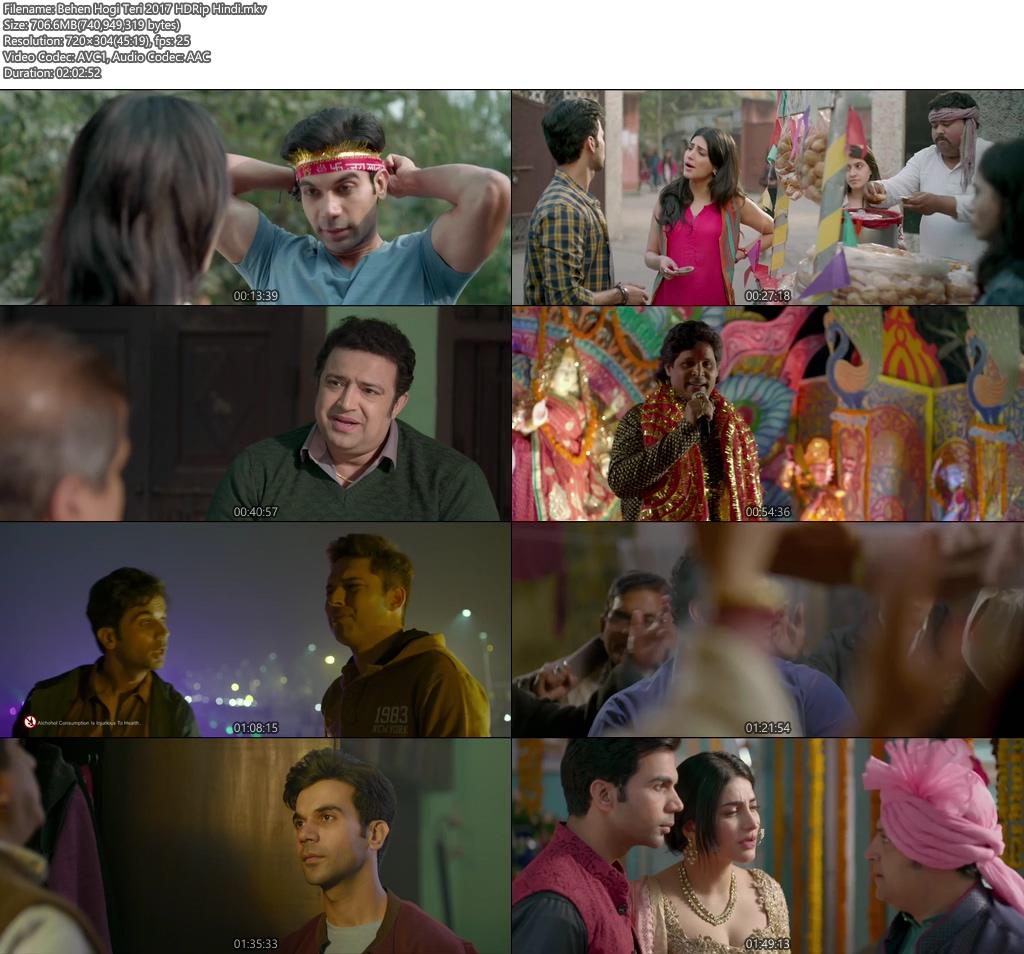 Behen Hogi Teri 2017 HDRip Hindi | 400MB 480p | 200MB HEVC Screenshot