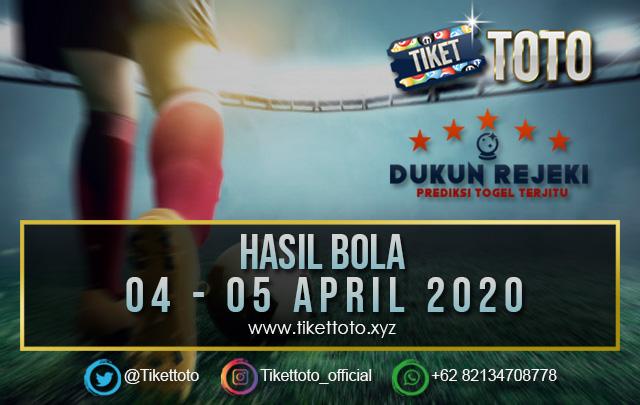 HASIL PERTANDINGAN BOLA 04 – 05 APRIL 2020
