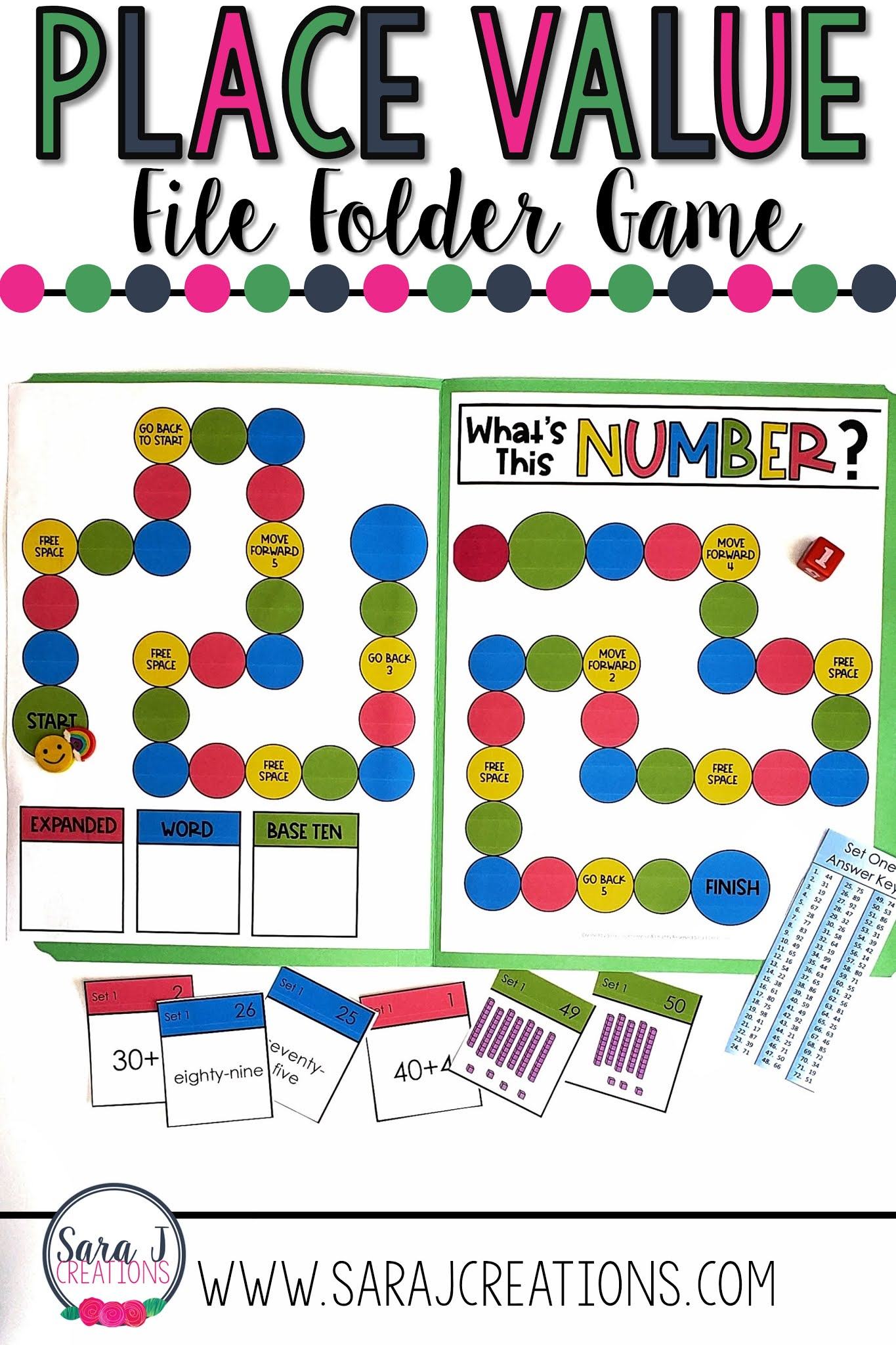 Place value file folder games are a low cost, easy to store way to make practicing place value more fun for your first or second graders.