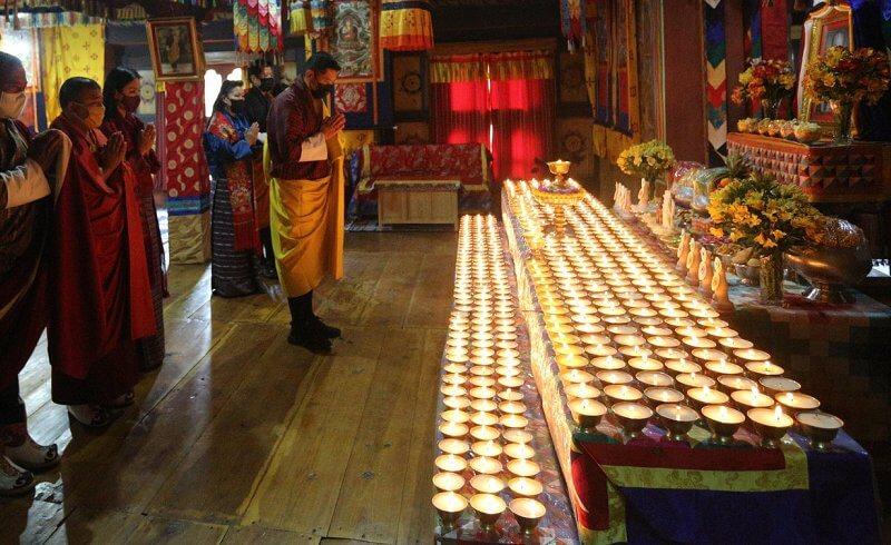 King Jigme Khesar Namgyel and Queen Jetsun Pema offered prayers in memory of Prince Philip, Duke of Edinburgh