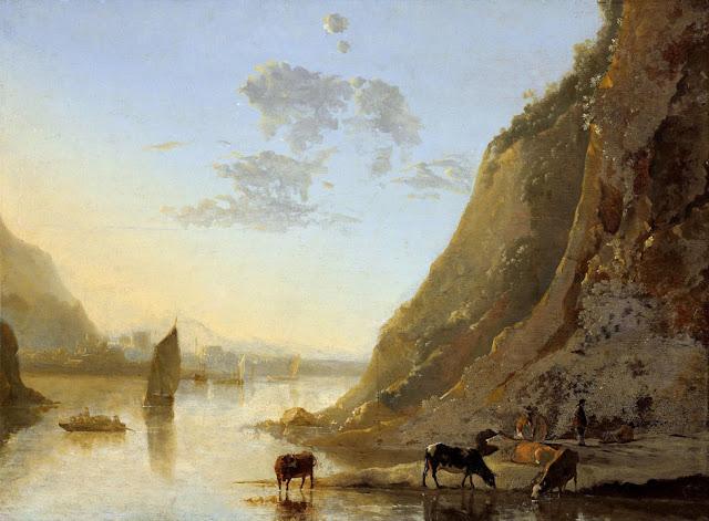 Альберт Кёйп - Речной берег с коровами. ок1660