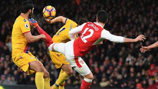 Arsenal Menang 2-0 atas Crystal Palace (Video Gol)