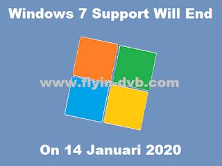 Microsoft Akan Menghentikan Suport Untuk Windows 7 Mulai 14 Januari 2020