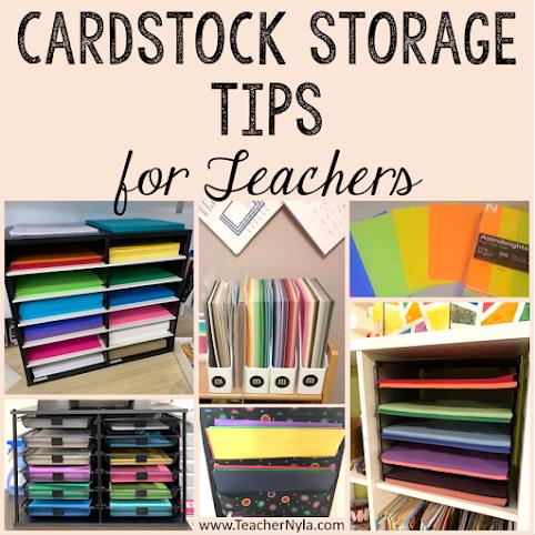 Cardstock storage tips for teachers