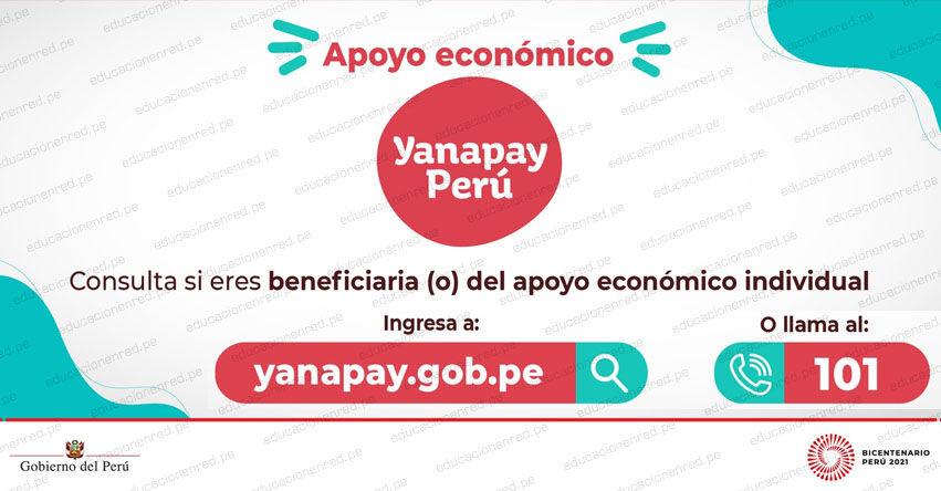 YANAPAY.GOB.PE » Ingresa tu DNI para saber si es beneficiario del apoyo económico individual de S/ 350