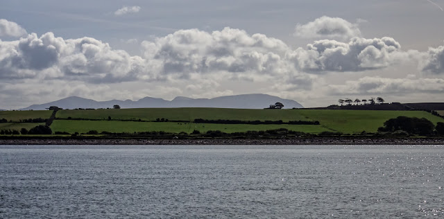 Photo of the northern fells from the Solway Firth