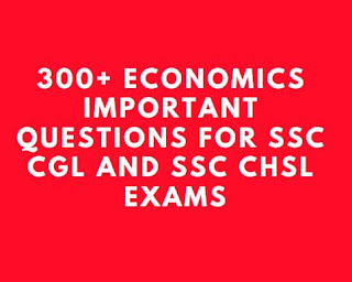 300+ SSC CGL and CHSL Previous Year Economics Questions PDF Download