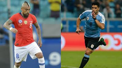 مشاهدة مباراة اوروجواي وتشيلي بث مباشر اليوم