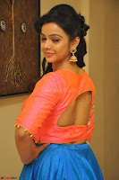 Nithya Shetty in Orange Choli at Kalamandir Foundation 7th anniversary Celebrations ~  Actress Galleries 062.JPG
