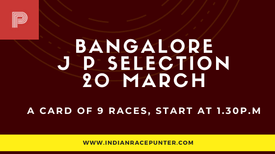 Bangalore Jackpot Selections 20 March