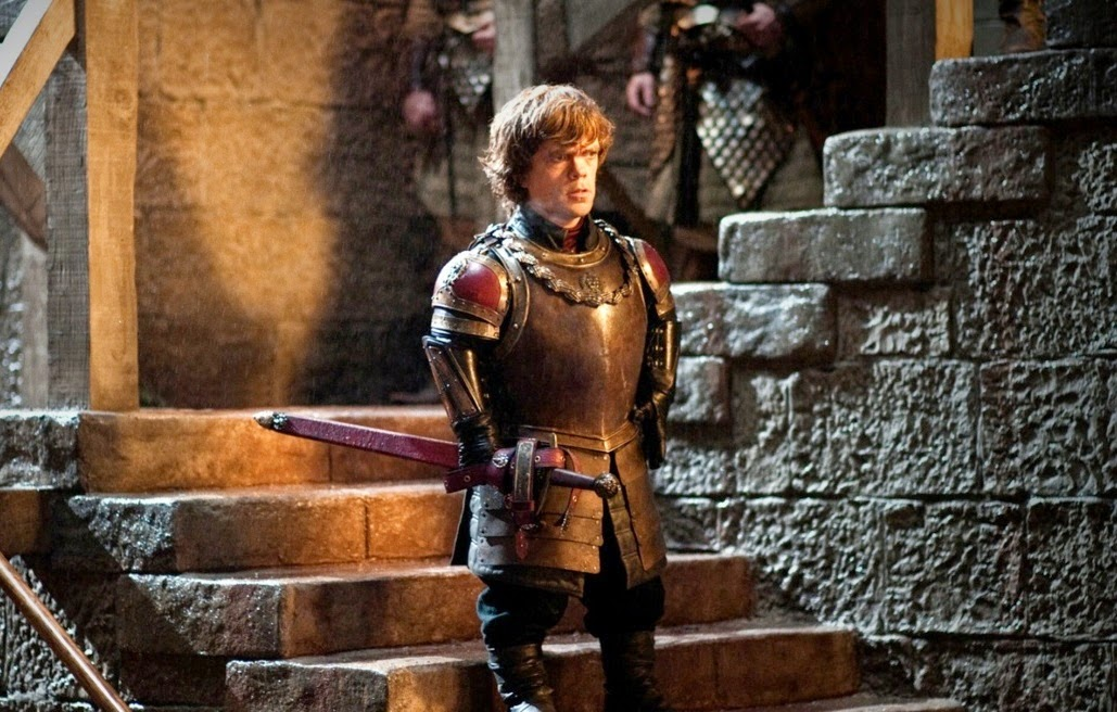 Peter Dinklage as Tyrion Lannister, delivers an inspirational speech at Blackwater Bay, Game of Thrones, HBO TV Series, George RR Martin