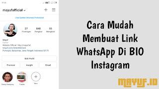 Cara Mudah Membuat Link WhatsApp Di BIO Instagram