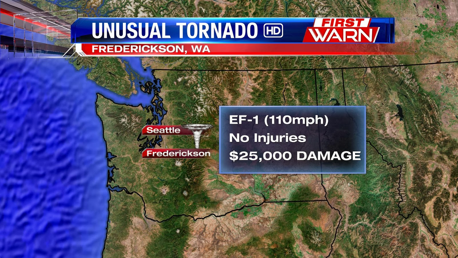 HD Decor Images » First Warn Weather Team  Unusual Tornado Hits Washington State File this under  Severe weather can strike anywhere   A tornado touched  down in Frederickson  Washington on Monday morning  While tornadoes aren t  unheard